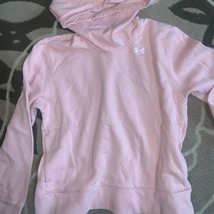 ❤️Under armour funnel neck hoodie blush large❤️
